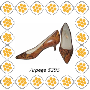 "Arpege from Bettye Muller python printed pump with 1/5"" heel."