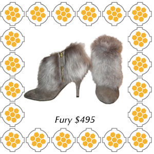 Fury by Bettye Muller fur cuff suede bootie