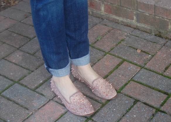Shoes Sam Edelman Adena Loafer with studs in Rose Gold