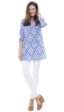 Roller Rabbit Tunic $85 My go-to pool cover up and they come in the best patterns.