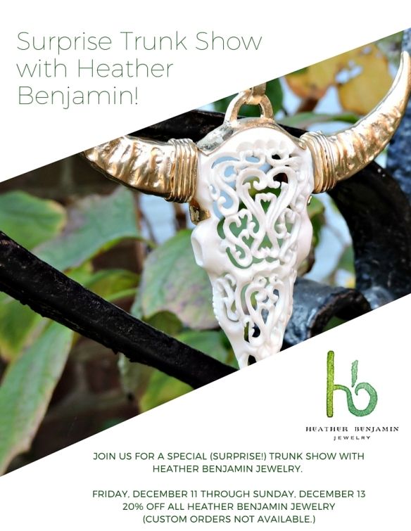 Surprise Trunk Show with Heather Benjamin!