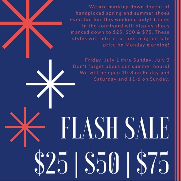 FLASH SALE$25 - $50 - $75
