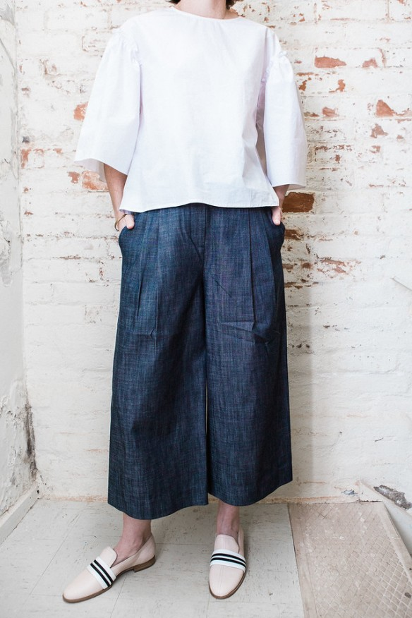 Raw Denim Cropped Pants, $445