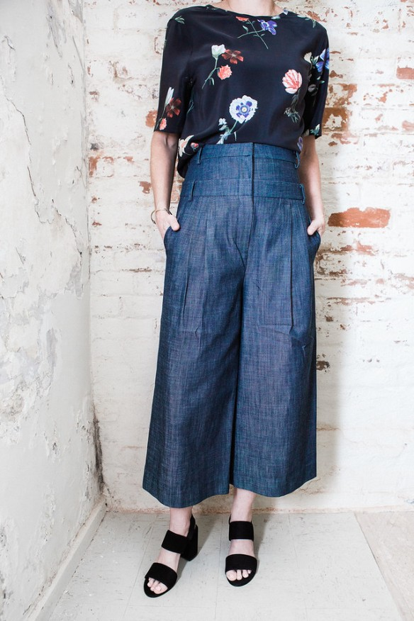 Another view of the Raw Denim Pants.